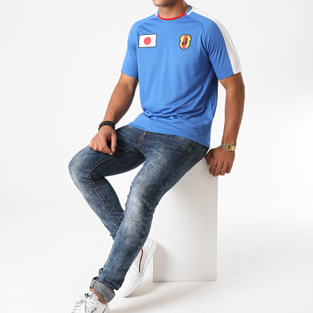 Okawa Sport - Tee Shirt De Sport A Bandes Japan Bleu Roi