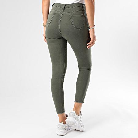 Girls Only - Pantalon Skinny Femme F632-5 Vert Kaki