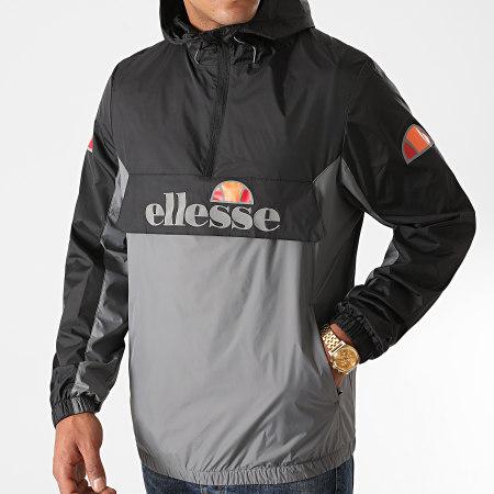 Ellesse - Coupe-Vent Capuche Ribery Padded SXG10691 Noir Gris Réfléchissant