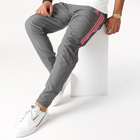 adidas - Pantalon Jogging A Bandes Real Madrid FC FQ7883 Gris Anthracite