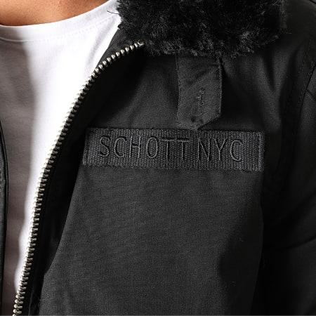 Schott NYC - Veste Zippée Fourrure Jeth X Noir