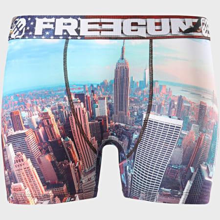 Freegun - Boxer Print Towers Bleu