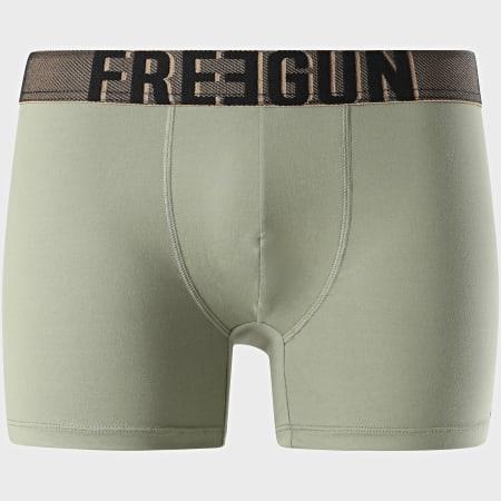 Freegun - Boxer Signature Ultradoux Vert Kaki