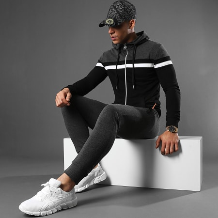 LBO - Pantalon Jogging Fluo Tech 1211 Gris Anthracite