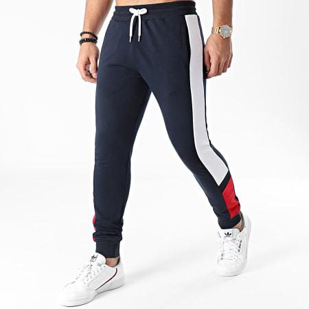 LBO - Pantalon Jogging Tricolore 1335 Bleu Marine Blanc Rouge