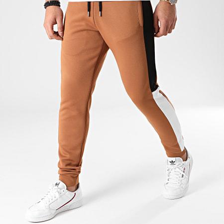 LBO - Pantalon Jogging Poly 1332 Camel Blanc Noir