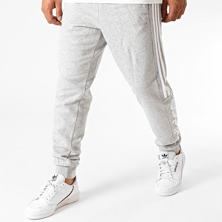 adidas - Pantalon Jogging A Bandes Essentials Colorblock GD5472 Gris Chiné