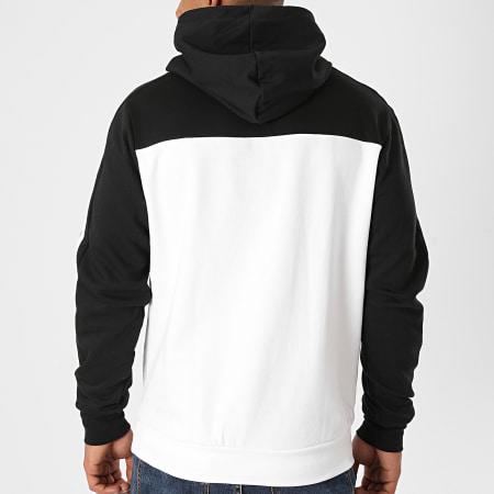 adidas - Sweat Capuche A Bandes GD5477 Blanc Noir
