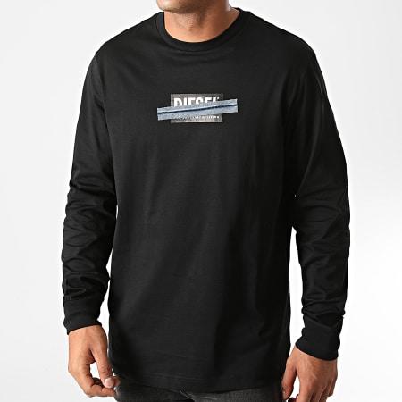 Diesel - Tee Shirt Manches Longues Just A01038-0CATM Noir