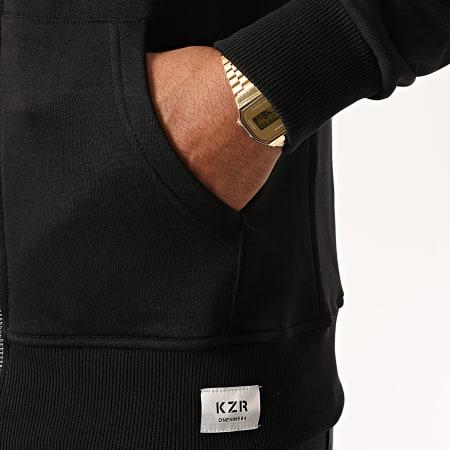 KZR - Sweat Zippé Capuche B025 Noir