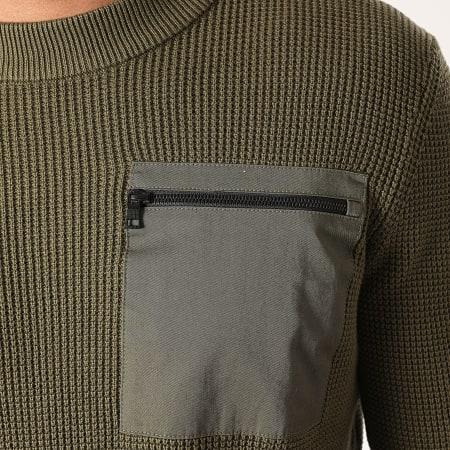 Tom Tailor - Pull 1020350 Vert Kaki