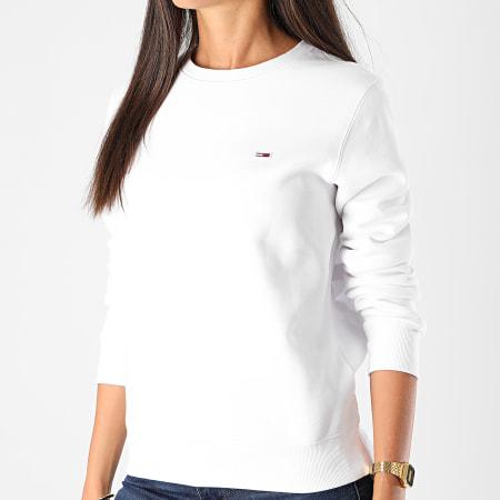 Tommy Jeans - Sweat Crewneck Femme Regular Fleece 9227 Blanc