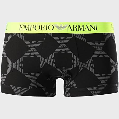 Emporio Armani - Boxer 111389-0A506 Noir Jaune Fluo