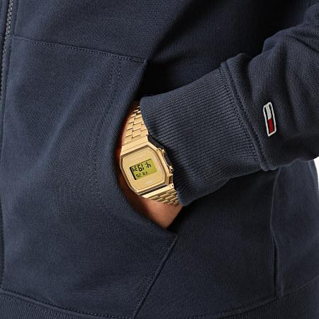 Tommy Hilfiger Jeans - Sweat Zippé Capuche Essential Graphic 8414 Bleu Marine