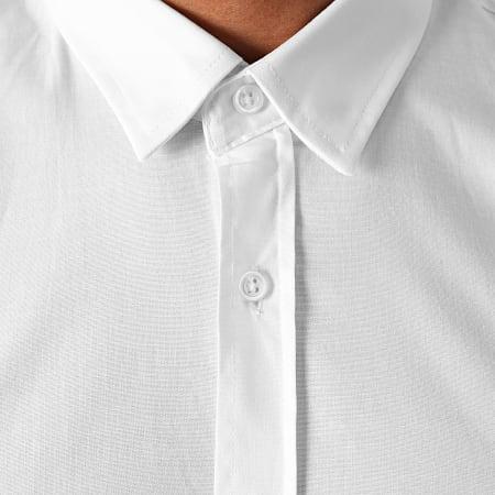 LBO - Chemise Manches Longues Avec Bandes Slim Fit 1390 Blanc