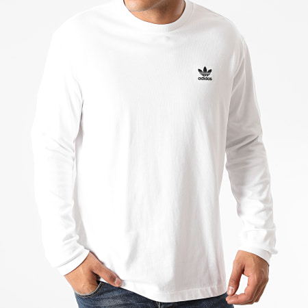 adidas - Tee Shirt Manches Longues Back + Front Trefoil GE0860 Blanc