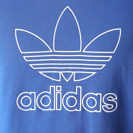 adidas - Tee Shirt Trefoil Outline GF4098 Bleu Roi