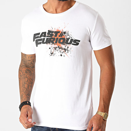 Fast And Furious - Tee Shirt Fast And Furious Splatter Blanc