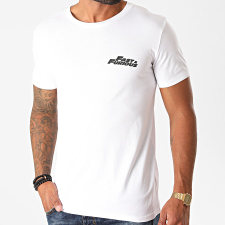 Fast And Furious - Tee Shirt Fast And Furious Sunset Blanc