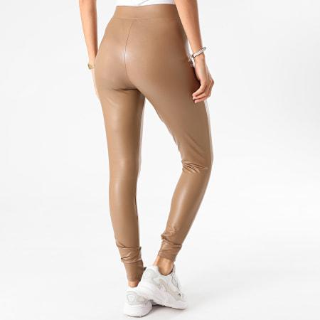 Only - Legging Femme Cool Coated Marron
