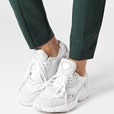 Vero Moda - Legging Suédine Femme Donna Dina Vert