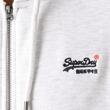Superdry - Sweat Zippé Capuche OL Classic M2010238A Gris Chiné