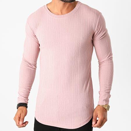 Frilivin - Tee Shirt Manches Longues Oversize 5519 Rose