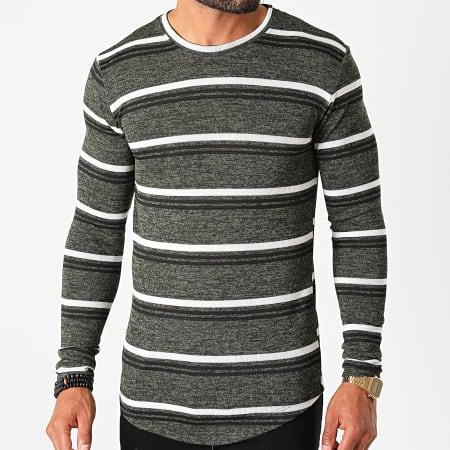 Frilivin - Tee Shirt Manches Longues Oversize 5526 Vert Kaki