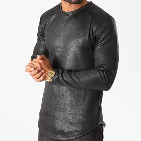 Frilivin - Tee Shirt Manches Longues Oversize 15025 Noir