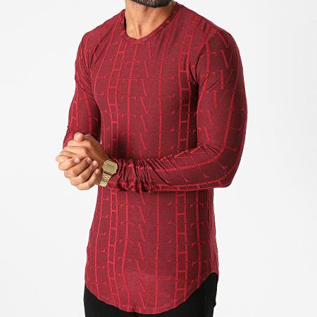 Frilivin - Tee Shirt Manches Longues Oversize U2139 Bordeaux