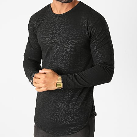 Frilivin - Tee Shirt Manches Longues Oversize 15026 Noir