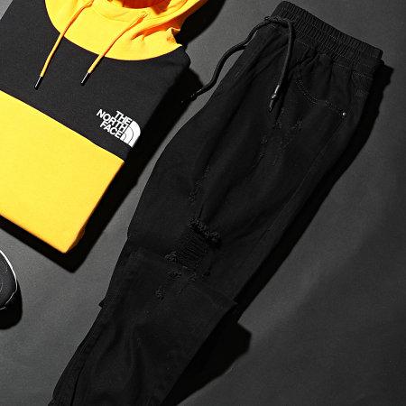 LBO - Jogger Pant Skinny Jeans Avec Dechirures LB0546J Noir