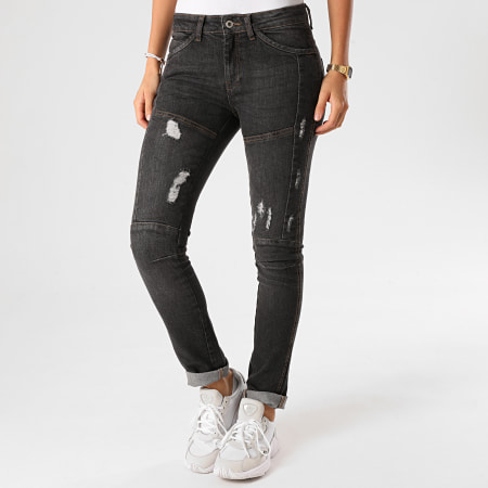 Girls Only - Jean Skinny Femme Phybie Gris Anthracite