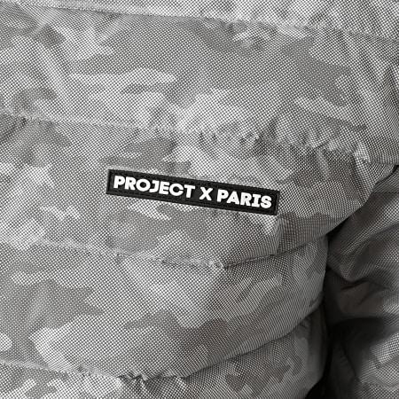 Project X - Doudoune Capuche 2050015 Gris Réfléchissant Camouflage