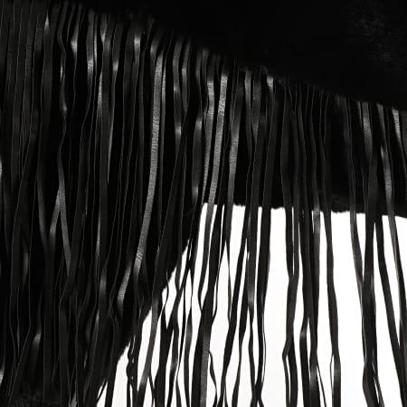 SIXTH JUNE - Manteau Fourrure Femme A Franges W70000MOW Noir
