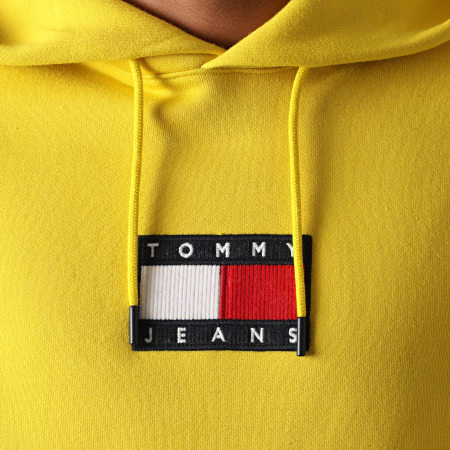 Tommy Jeans - Sweat Capuche Small Flag 8726 Jaune