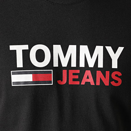 Tommy Jeans - Tee Shirt Manches Longues Corp Logo 9487 Noir