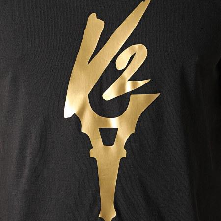 Da Uzi - Tee Shirt Logo Noir Doré