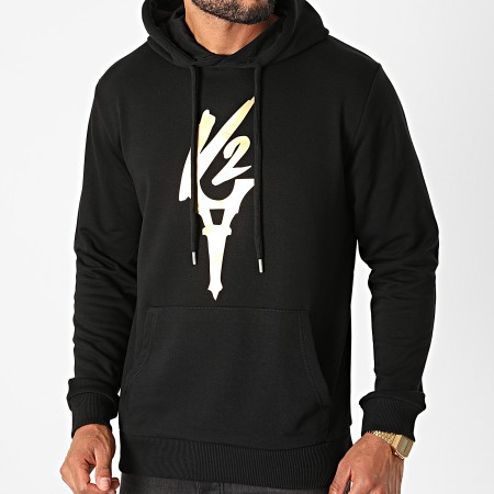 Da Uzi - Sweat Capuche Logo Noir Or