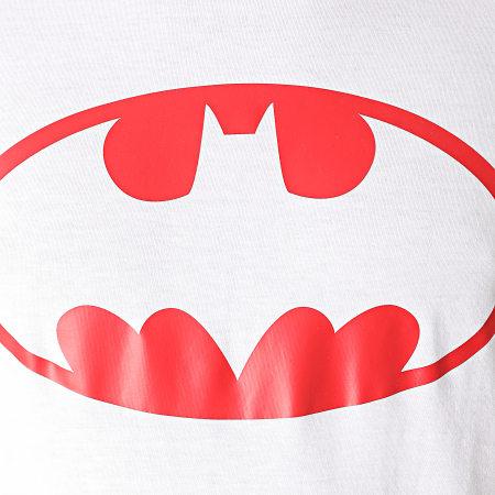 Batman - Tee Shirt Batman Logo Blanc Rouge