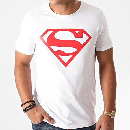 Superman - Tee Shirt Superman Logo Blanc Rouge