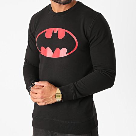 Batman - Sweat Crewneck Batman Logo Noir Rouge