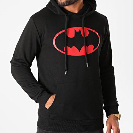Batman - Sweat Capuche Batman Logo Noir Rouge