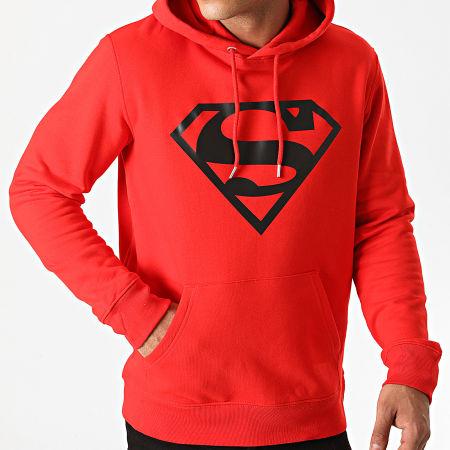 Superman - Sweat Capuche Superman Logo Rouge Noir