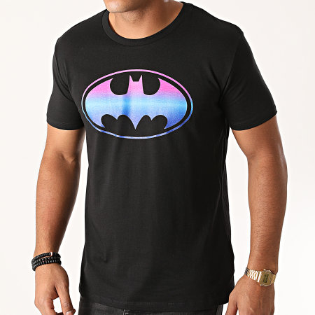 Batman - Tee Shirt Batman Gradient Logo Noir