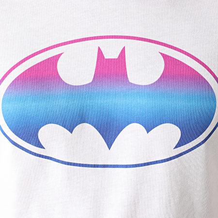 Batman - Tee Shirt Batman Gradient Logo Blanc
