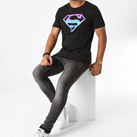 Superman - Tee Shirt Superman Gradient Logo Noir