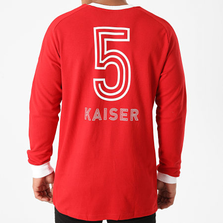 adidas - Tee Shirt Manches Longues A Bandes FC Bayern Munich Icons GM3994 Rouge