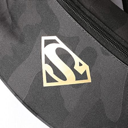 Superman - Sacoche Banane Superman Logo Camouflage Noir Doré
