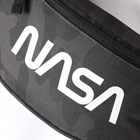 NASA - Sacoche Banane Worm Logo Camouflage Noir